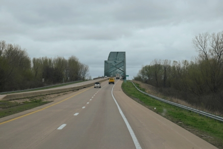 Crossing the Mississippi again, but West to East this time!