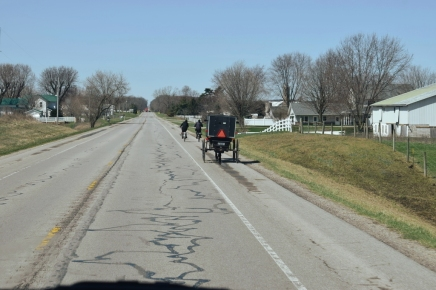 Amish along Route 120, Shipshewana, IN